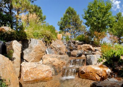Ravenna water feature built to flow with its natural surroundings