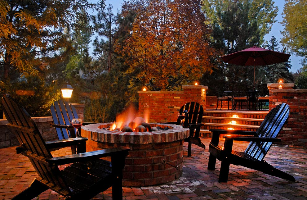 A view of the Cherry Hills Village Fire pit Patio
