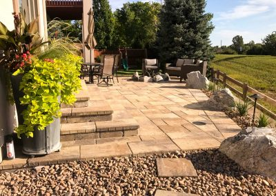 Grant Ranch Patio view from the stepping stones